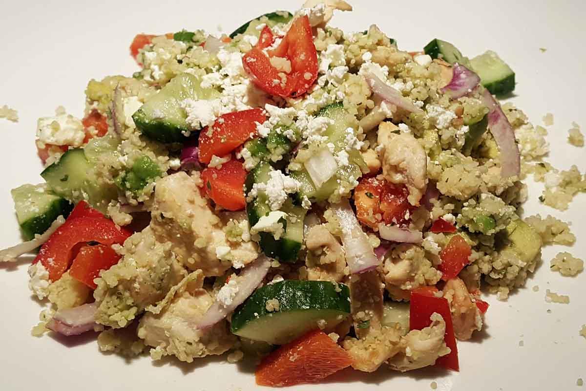 eiwitrijke couscous maaltijdsalade