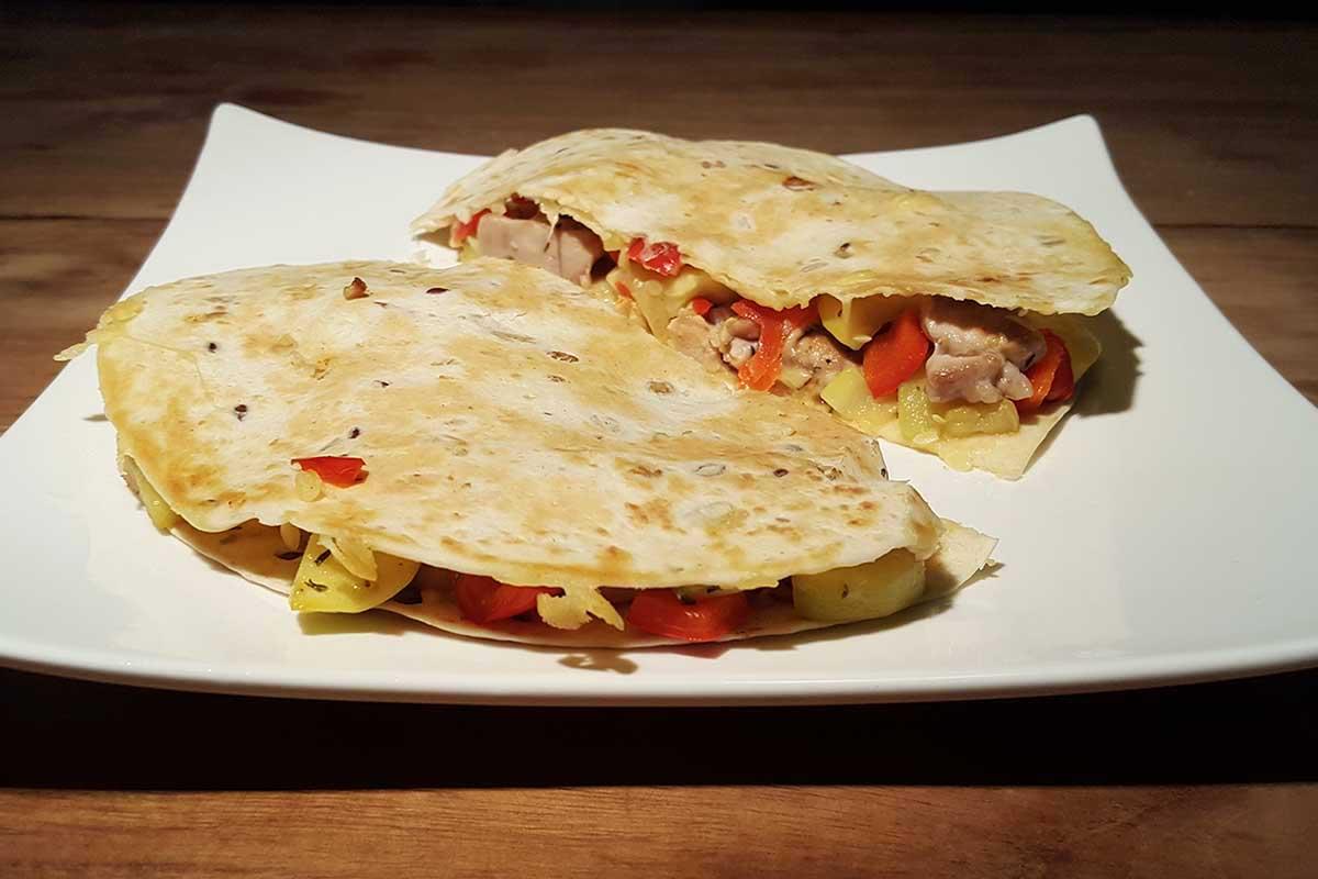 Quesadilla recept met kip